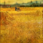 Vincent van Gogh - en mode Tilt-shift - arles-view-from