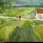 Vincent van Gogh - en mode Tilt-shift - landscape-at-au