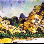 Vincent van Gogh - en mode Tilt-shift - mountains-at-sa