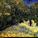 Vincent van Gogh - en mode Tilt-shift - red-chestnuts-i