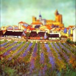 Vincent van Gogh - en mode Tilt-shift - view-of-saintes