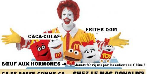 Vous voulez savoir ce que reprsente vraiment Mac Donald ? Un article qui analyse de manire trs complte les consquences de l&rsquo;existence de cette enseigne, qu&rsquo;il s&rsquo;agisse : de l&rsquo;exploitation...