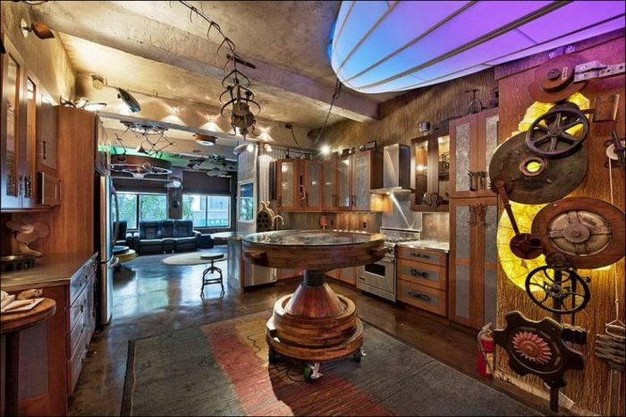 Un appartement steampunk new york la mauvaise herbe for Interieur new york