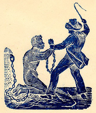 Man in chains being whipped