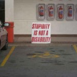 Parking handicape - stupidity is not a disability