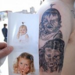 Tatouage - portraits enfants rates